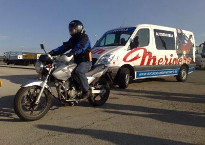 Pita de practicas moto